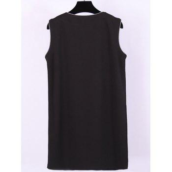 Plus Size Double Breasted Flap Pockets Waistcoat - BLACK XL