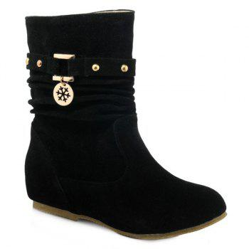 Stylish Metal and Increased Internal Design Women's Boots