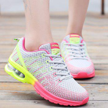 Stylish Multicolour and Air Cushion Design Women's Athletic Shoes
