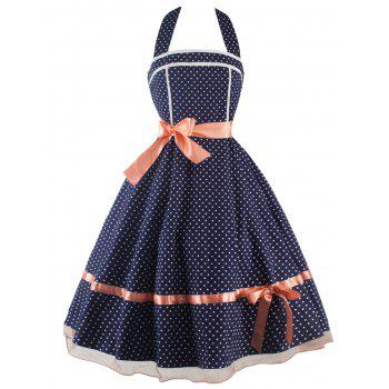 Vintage Polka Dot Halter Dress
