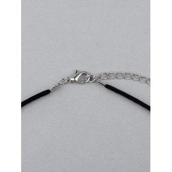 Geometric Faux Leather Chokers - BLACK