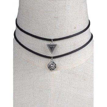 Geometric Faux Leather Chokers