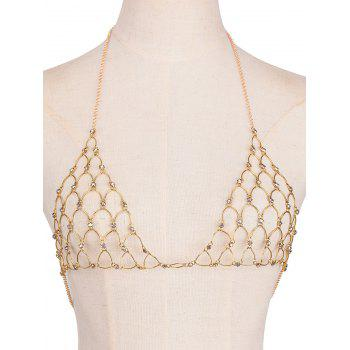 Rhinestone Hollow Out Triangle Bra Body Chain