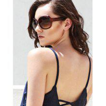 Stylish Solid Color Big Frame Women's Sunglasses
