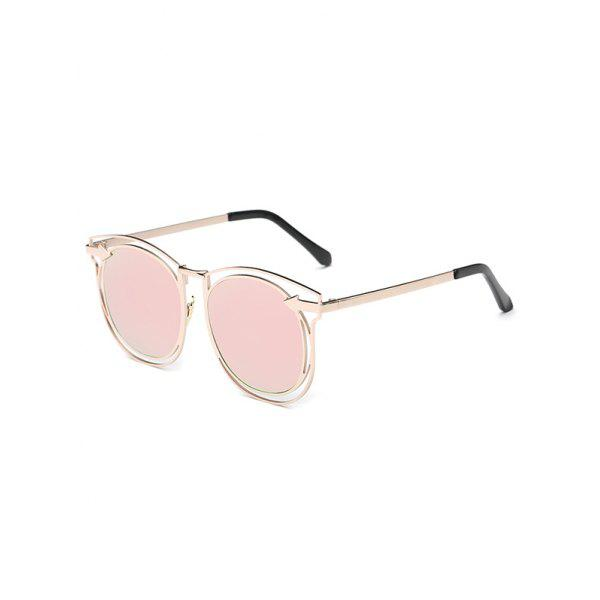 Stylish Arrow Hollow Out Mirrored Sunglasses