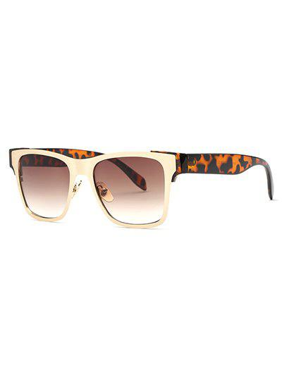 Stylish Leopard Leg Trendsetter Sunglasses - TEA COLORED