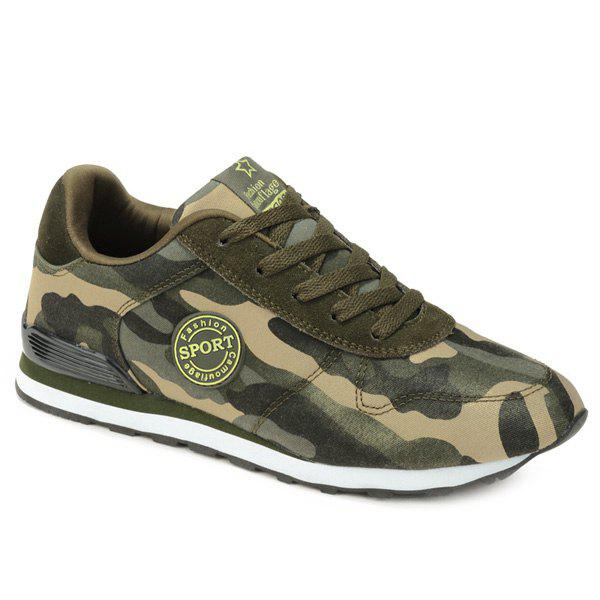 Buy Stylish Tie Camouflage Pattern Design Men's Athletic Shoes ARMY GREEN CAMOUFLAGE