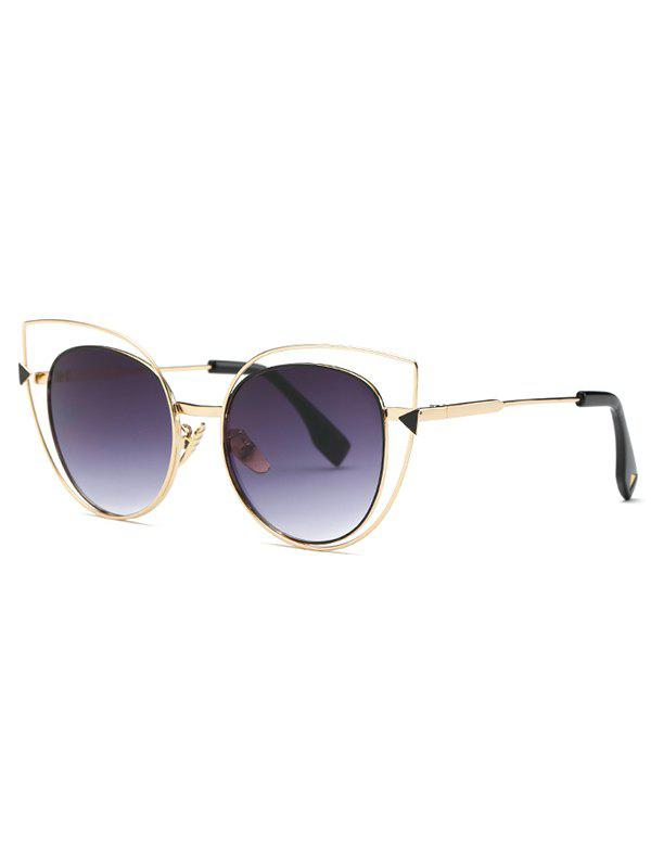 Stylish Hollow Out Cat Eye Sunglasses - DEEP PURPLE