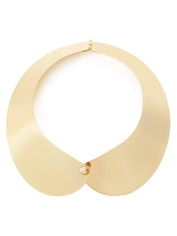 Punk Glazed Alloy Necklace - GOLDEN