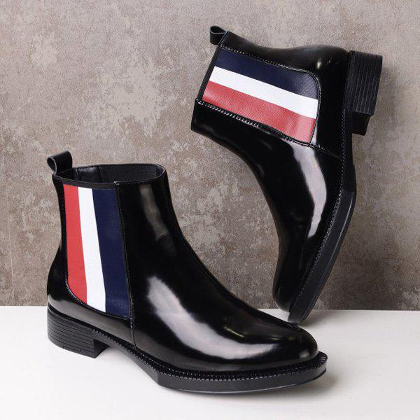 Trendy Color Block and Elastic Band Design Women's Short Boots