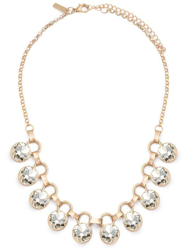 Faux Crystal Alloy Party Necklace - GOLDEN