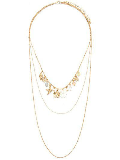 Graceful Blossom Leaf Layered Necklace