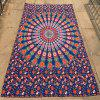 Bohemian Style Mandala Feather Flower Pattern Sea Side Bikini Swimwear Long Scarf - CADETBLUE