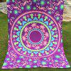 Passionate Arab Style Palm and Round Pattern Bikini Swimwear Purple Long Scarf - PURPLE