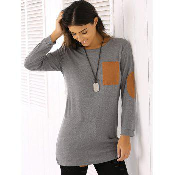 Trendy Round Neck Patch Design Women's T-Shirt