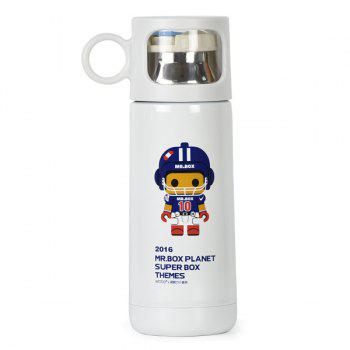 Fashion 350ml Cartoon Mr.Box Stainless Steel Thermal Bottle Vacuum Flasks Cup For Children