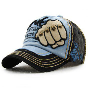 Fashion Fist Embroidery Rivet Decorated Do Old Men's Summer Baseball Hat