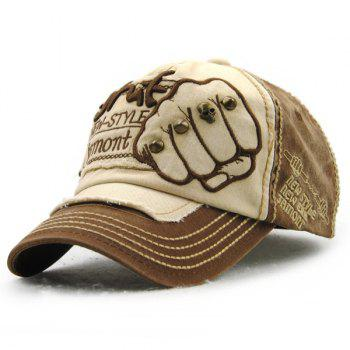Fashion Fist Broderie Rivet Décoré Do Old Men 's Baseball Summer Hat