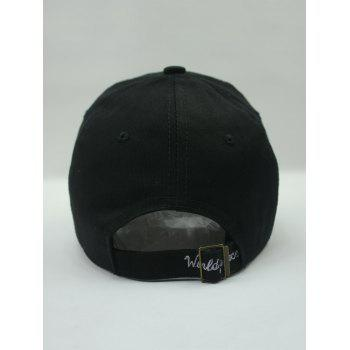 Stylish Grenade and Letter Embroidery Baseball Hat - BLACK