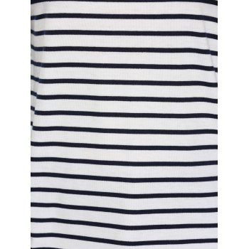 Concise Long Sleeve Striped Top For Women - WHITE/BLACK XL