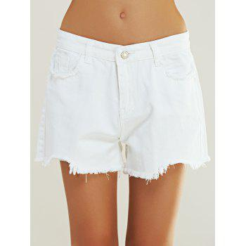 Concise High Waist Pure Color Shorts For Women
