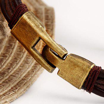 Rope Faux Leather Bracelet - BROWN