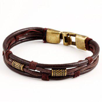 Rope Faux Leather Bracelet