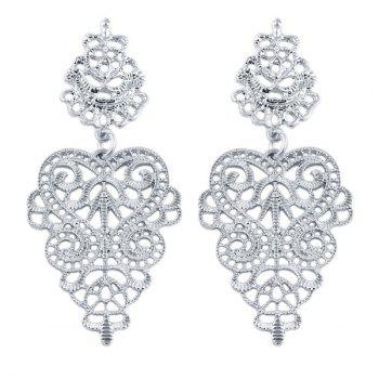 Floral Openwork Drop Earrings