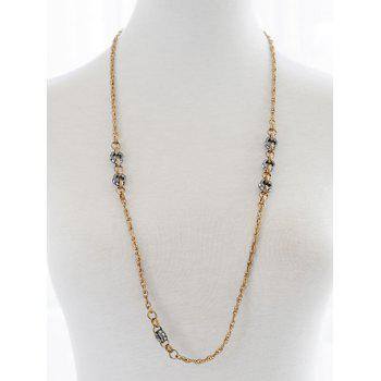 Ethnic Circle Sweater Chain -  GOLDEN