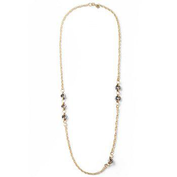 Ethnic Circle Sweater Chain - GOLDEN GOLDEN