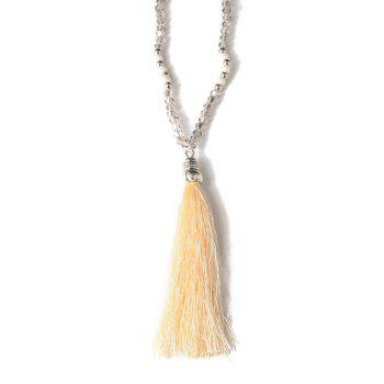 Tassel Beaded Sweater Chain - OFF-WHITE OFF WHITE