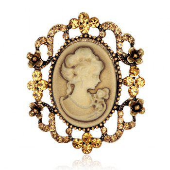 Charming Emboss Figure Floral Brooch For Women