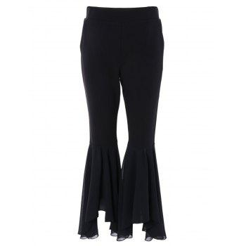 Chic Women's High Waist Bell Bottom Pants