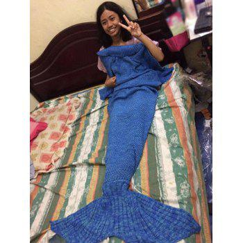 Comfortable Knitted Mermaid Design Sleep Cell Throw Blanket