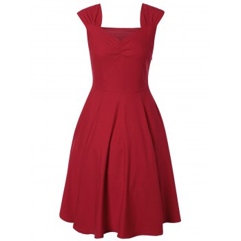 Sweetheart Neck Pin Up Dress