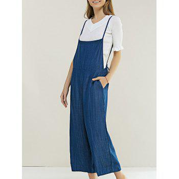 Chic Women's Pure Color Denim Overall Pants