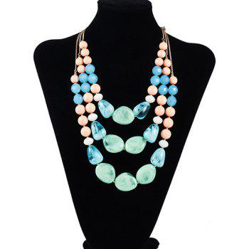 Geometric Resin Faux Stone Multilayered Necklace