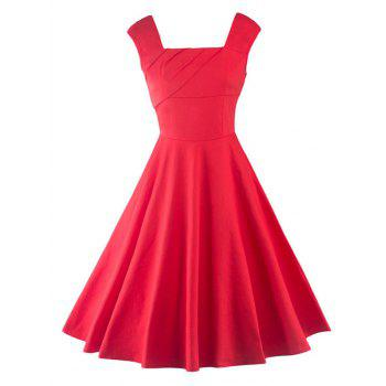 Empire Waist Tea Length Skater Party Dress