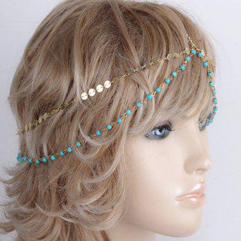 Charming Multilayer Beaded Sequin Hair Accessory For Women