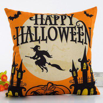 Halloween Pumpkin Pattern Cushion Throw Pillow Case