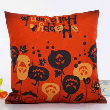 Chic Happy Halloween Pumpkin Face Pattern Pillow Case