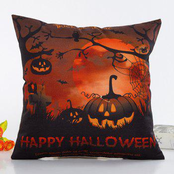 Fantastic Halloween Night Pumpkin Face Pattern Pillow Case