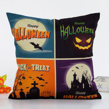 Stylish Halloween Night Plaid Combination Design Pillow Case