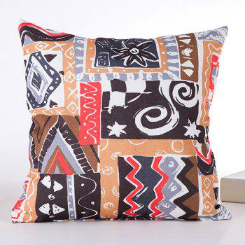 Fashional Irregular Goemetry Joint Scrawl Design Pillow Case