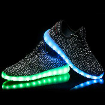Led Luminous Lights Up Sneakers - BLACK 44