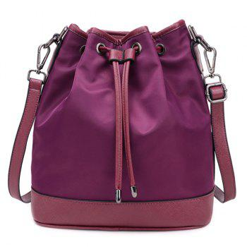Fashion Double Buckle and Drawstring Design Women's Shoulder Bag