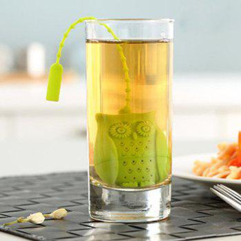 Fun Cartoon Cute Owl Food Grade Silicone Filter Diffuser Tea Strainer