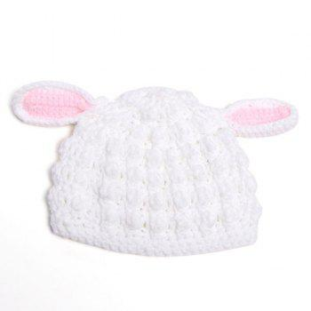 Stylish Cute New Born Baby Photography Sheep Ear Shape Crocheting Knitted Beanie