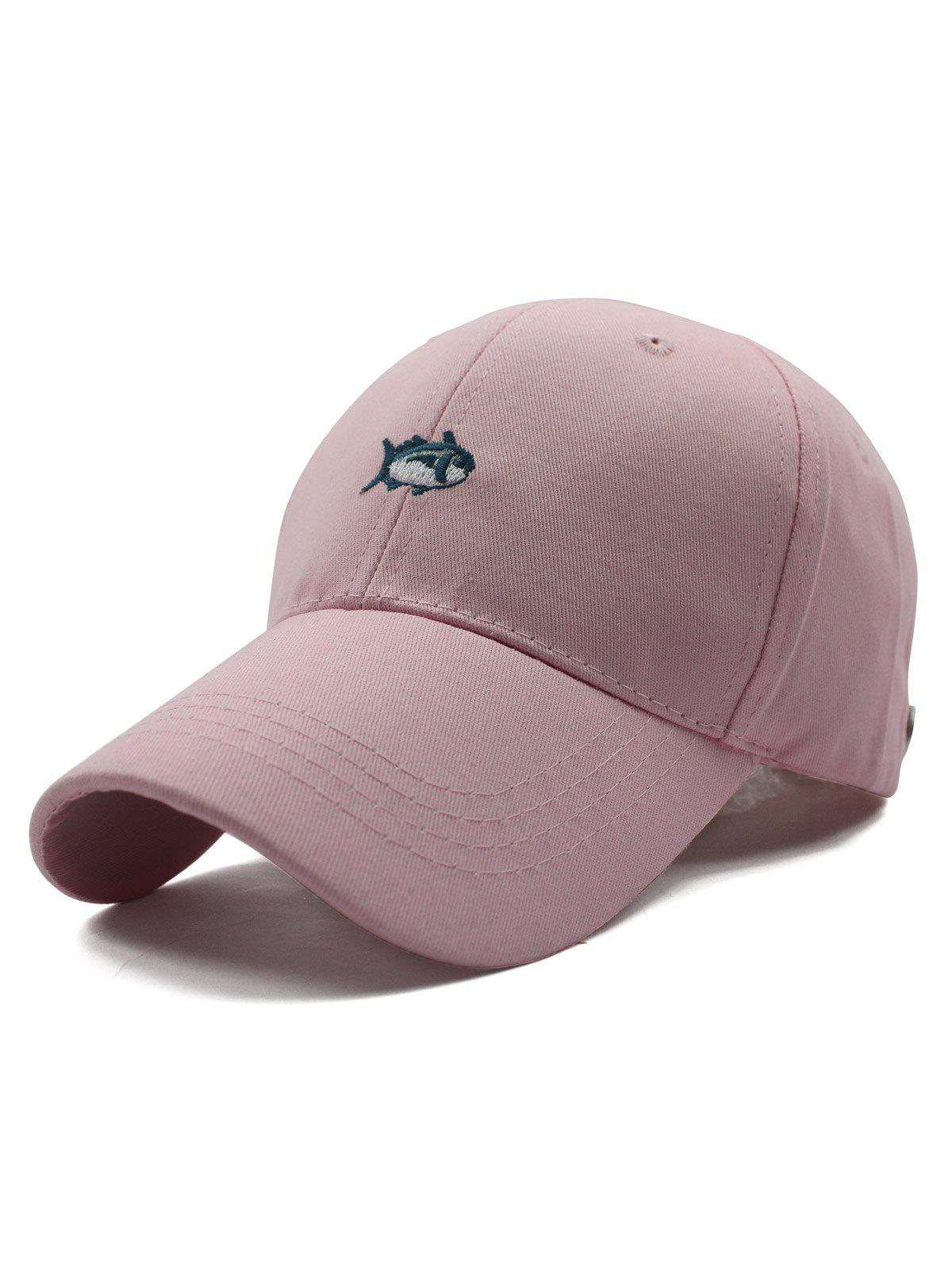 Stylish Small Fish Embroidery Baseball Hat