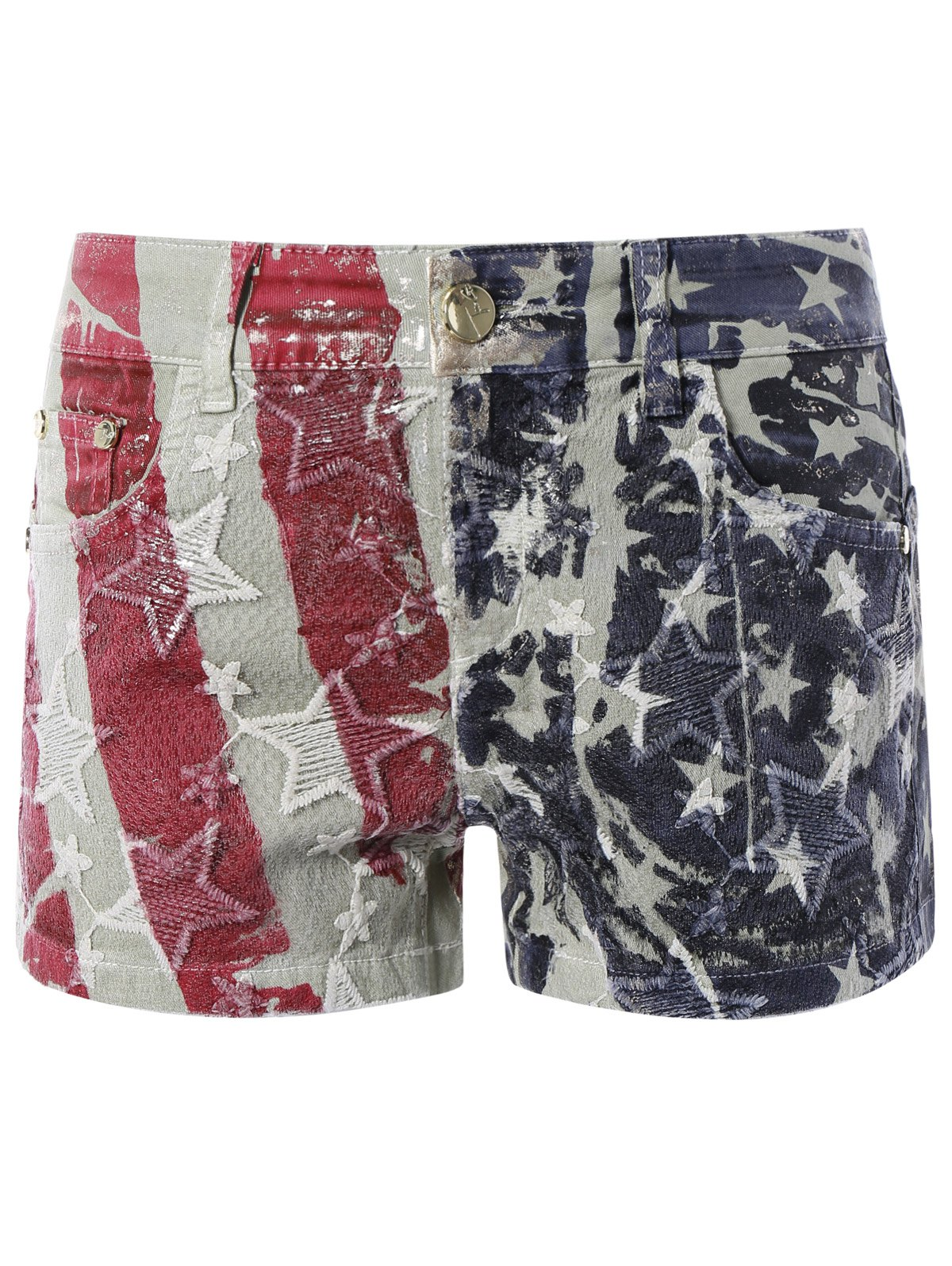 Chic Star Print Shorts - 30 COLORMIX